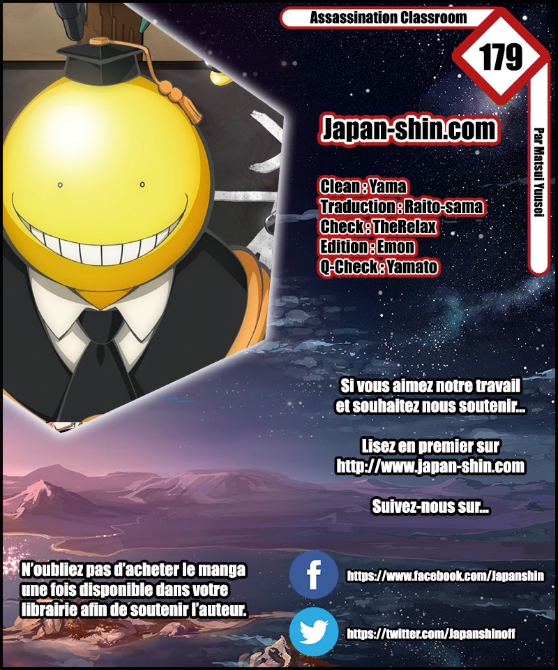 Lecture en ligne Assassination Classroom 179 page 1